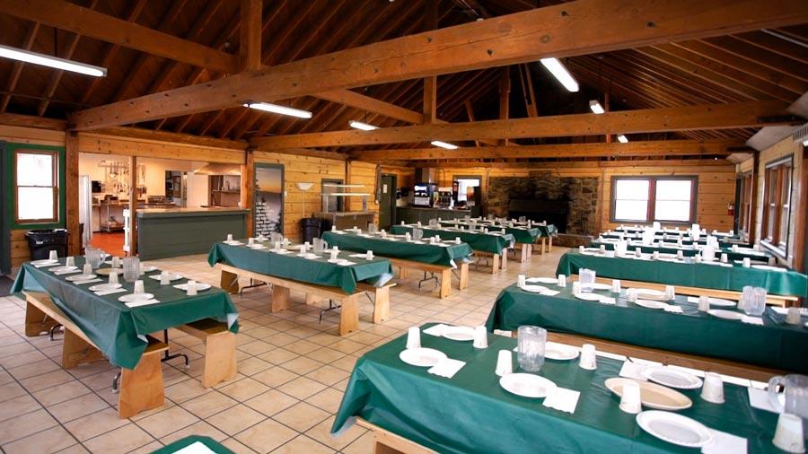 inside of dining hall