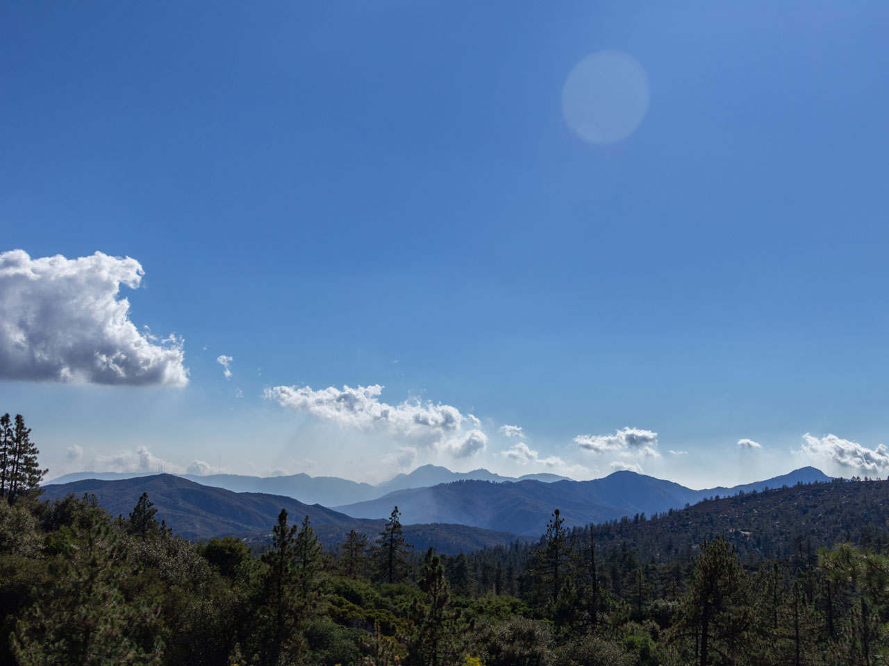 Blue sky view from Angeles Crest Christian Camp