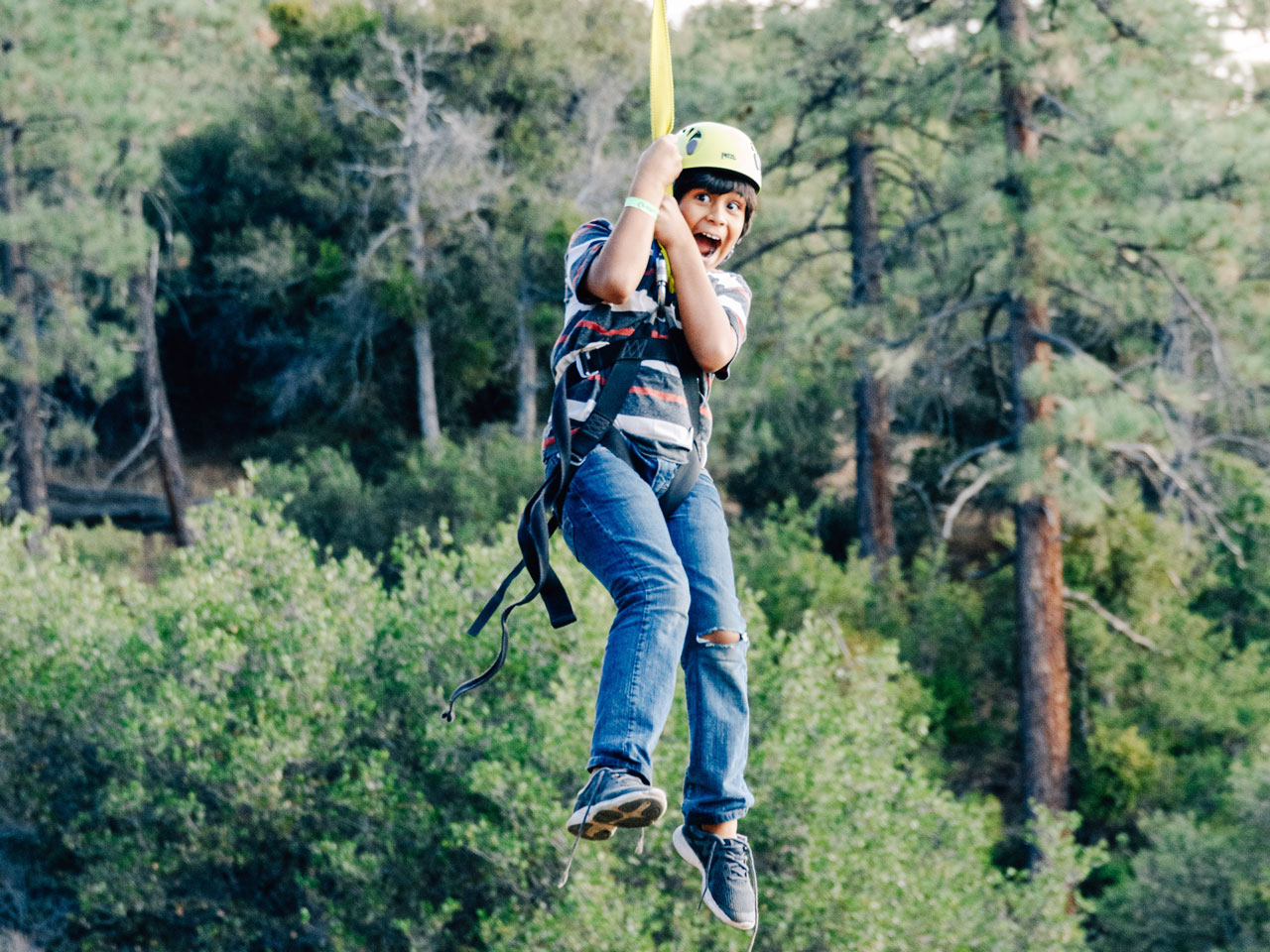 boy zipline angeles crest