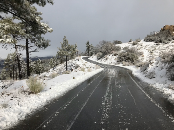 angeles crest weather road conditions