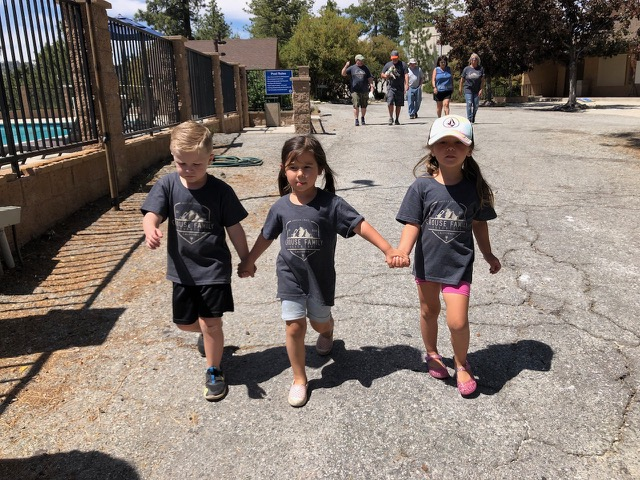 Young kids at Angeles Crest Family Campground
